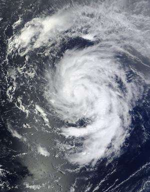 TRMM satellite sees Nadine still struggling to become a hurricane