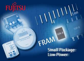 Ultra low-power consumption 16K bit FRAM: Extending battery lifetime and minimizing PCB space for portable equipments