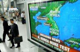 2006 North Korea explosion was detected at a magnitude 4.1 and was believed to be around one kiloton explosive yield