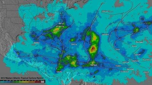 NASA's TRMM satellite video reveals 2012 hurricane season rainfall