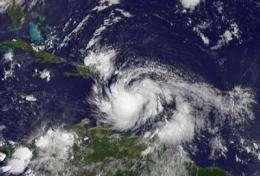 NASA sees Tropical Storm Isaac bring heavy rains to Eastern Caribbean