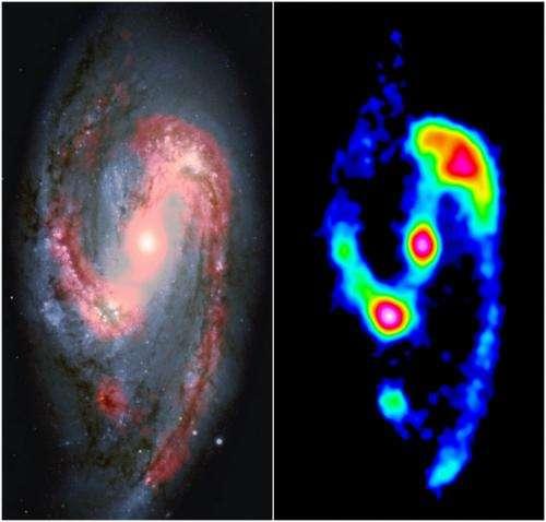 Dusty stellar nurseries from the dark side of a galaxy