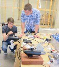 Students design underwater robot that does more than score points