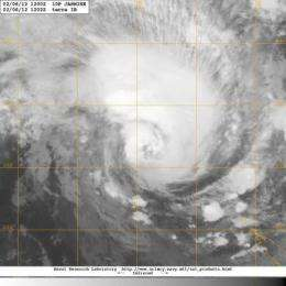 NASA satellite sees cyclone Jasmine heading for Vanuatu, New Caledonia