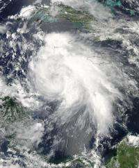 NASA satellites revealed Tropical Storm Ernesto's strongest side