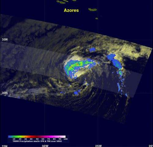 NASA satellites see Tropical Storm Nadine 'refuse to go away'