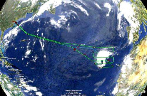 NASA's Global Hawk and satellites see tropical storm Nadine turning around