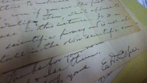 Newly discovered letters and translated German ode expand Texas link to infamous Bone Wars