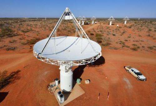A colossal radio telescope in the Western Australia desert
