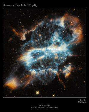 A Cosmic Holiday Ornament, Hubble-Style