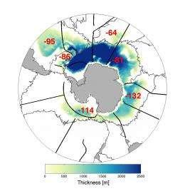 Amount of coldest Antarctic water near ocean floor decreasing for decades