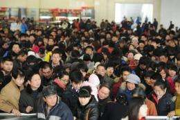 A new online system for ordering train tickets in China is struggling to cope with the huge demand