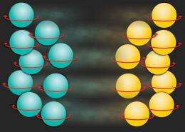 A one-way street for spinning atoms