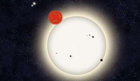 Armchair astronomers find planet in four-star system