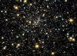 A starfield in space