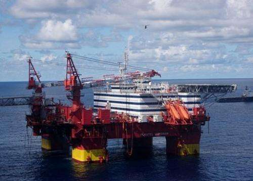 A Statoil rig in the Norwegian Sea