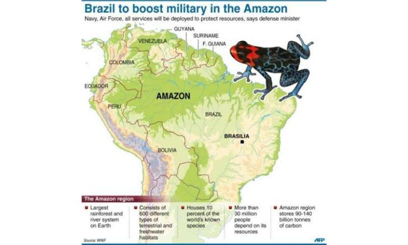 Brazil to boost military in the Amazon