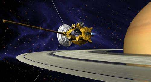 Cassini testing part of its radio system