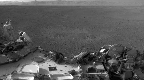 Curiosity Mars rover installing smarts for driving