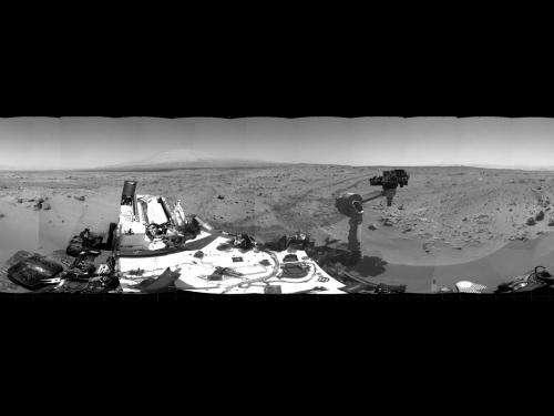 Curiosity preparing for second scoop