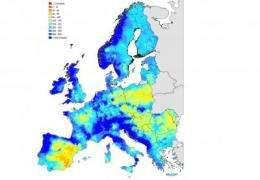 Current water resources in Europe and Africa