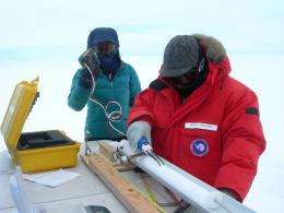 Geologists bring Antarctic ice cores to campus