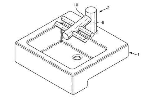 Dyson patent shows wash-dry of hands from same fixture
