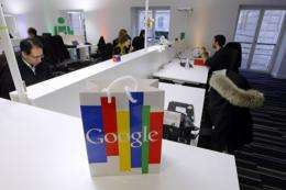 Employees work in the Google France offices in Paris in 2011
