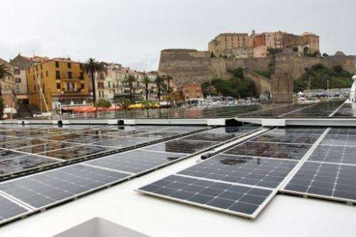 Everything on board is solar-powered: from the boat's engines and on-board computers to the hot water and light bulbs