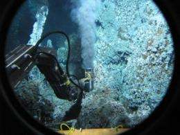 First detailed report defines limits of methane-exhaling microbial life in an undersea volcano