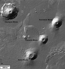 First Mars Express gravity results plot volcanic history