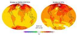 French researchers complete new simulations for the next IPCC report
