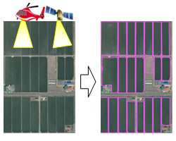 Fujitsu uses image analysis technology to generate rice paddy parcel maps from satellite images and aerial photos