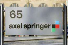German newspaper publisher Axel Springer's Berlin headquarters