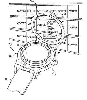Google has designs on flip-up wristwatch