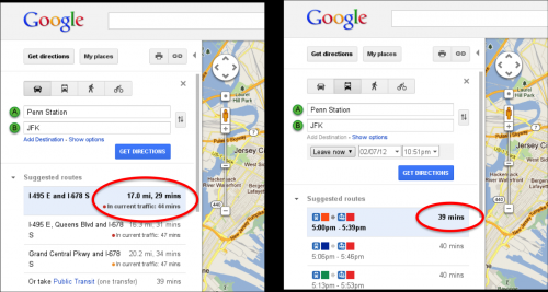Google tries new approach with real time traffic estimates for Google Maps