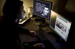 Hacking group Anonymous is believed to be a loosely affiliated network of