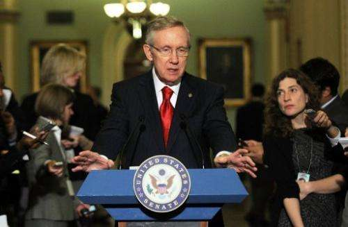 Harry Reid said that he was delaying a scheduled vote on a controversial bill aimed at cracking down on online piracy