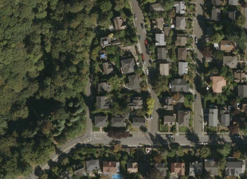 How can you see a satellite view of your house?