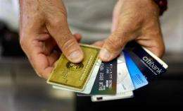 Israel's three major credit card companies said 6,050 cards were affected