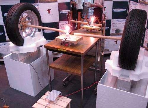 Japan demo shows electricity entering EV through tires