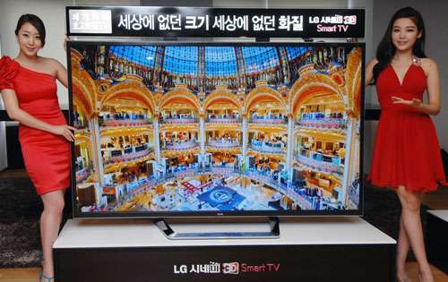 LG releases 'world's largest' ultra-definition TV