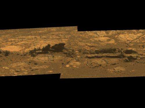 Mars Rover Opportunity Working at 'Matijevic Hill'