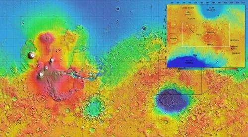 Exhumed rocks reveal Mars water ran deep