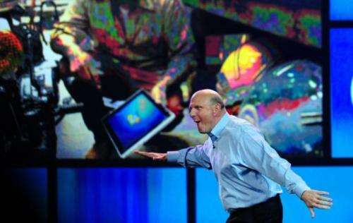 Microsoft CEO Steve Ballmer arrives for his keynote address at CES 2012
