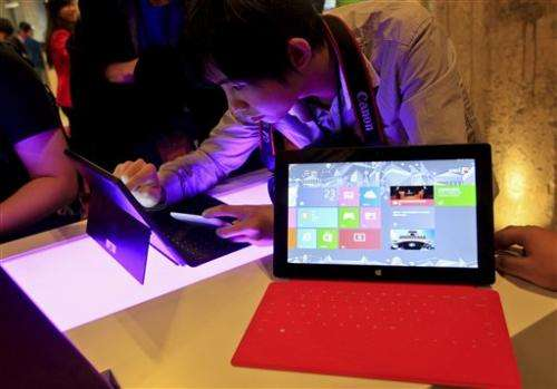 Microsoft enters hardware business with Surface