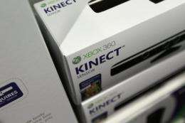 Microsoft's new Kinect controller for the Xbox 360 is displayed on a shelf at a store in Miami Beach