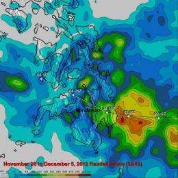 NASA compiles Typhoon Bopha's Philippines Rainfall totals from space