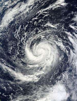 NASA eyes Typhoon Prapiroon intensifying