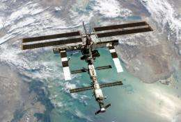 NASA image shows the International Space Station in 2005